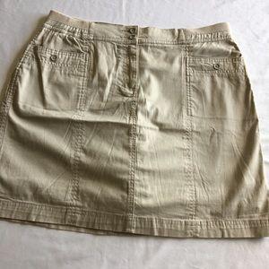 Karen Scott Tan Skort Size 12